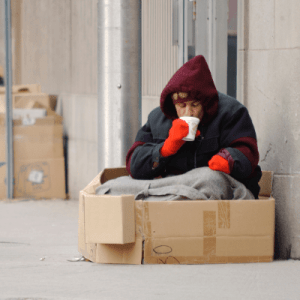 Homelessness crisis at christmas | Onwards and Up