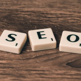 SEO spelt with Scrabble letters | Onwards and Up
