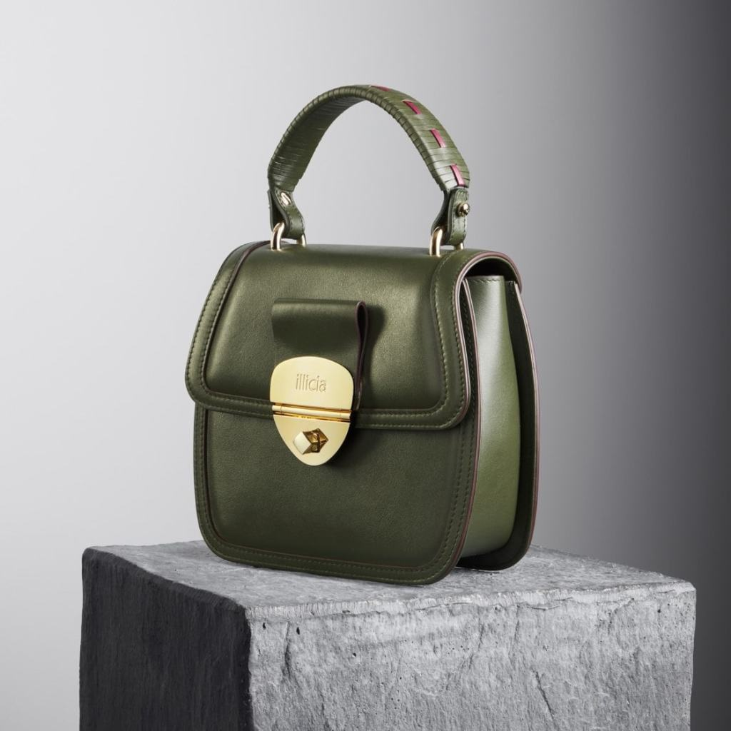 Grace Top handle Bag Kale Green, Illicia, Onwards and Up