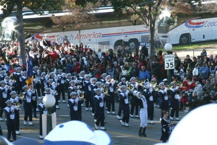The Blue Band at the Rose Bowl Parade. @BlueBandSteve said that he'll be posting about the band's trip to Pasedena shortly. We'll put a link up to it when he does.