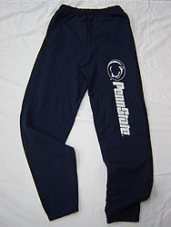 We recommend elastic-pants for today's festivities. While elastic khakis would certainly be classier, sweatpants can be both comfortable and show your Penn State pride.