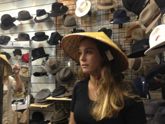 """According to John, these hats are called """"coolies"""""""