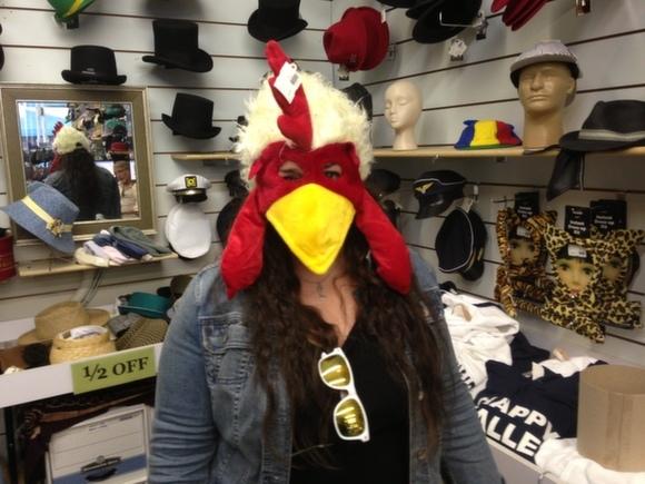 Mara as a chicken