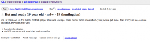 Craigslist personals state college pa