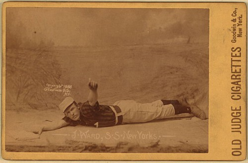Monte Ward on a baseball card, 1888.