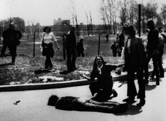 The aftermath of the Kent State shooting. (Photo: John Paul Filo)
