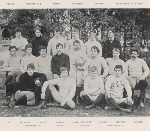 The 1892 Penn State football team, led by player-coach George Hoskins
