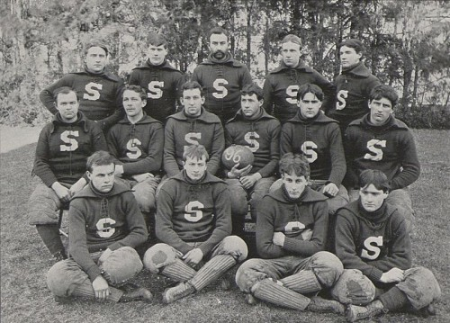 The 1896 Penn State football team. coached by Sam Newton