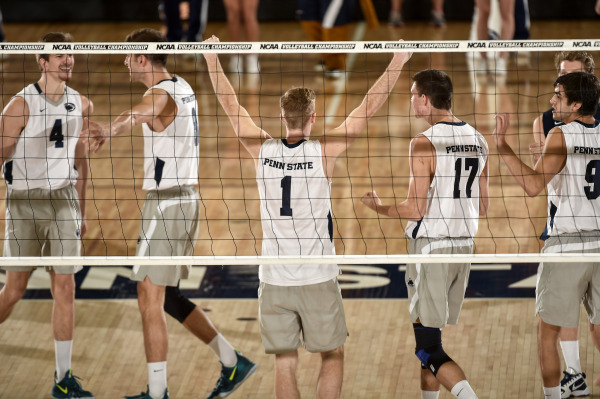 Penn State men's volleyball defeated No. 4 seed George Mason in the EIVA semifinals in 2014. (Photo: Mark Selders)