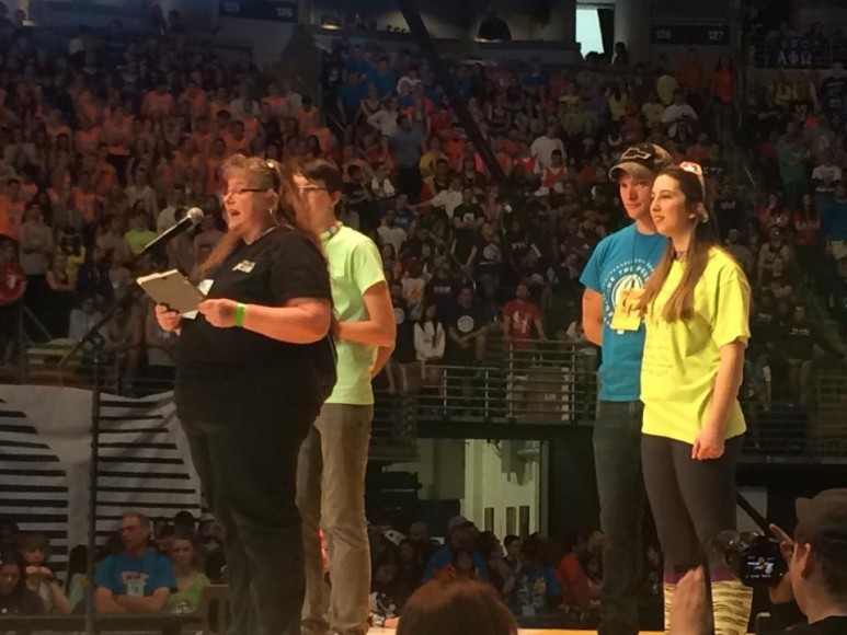 josiah graybill family at thon 2015