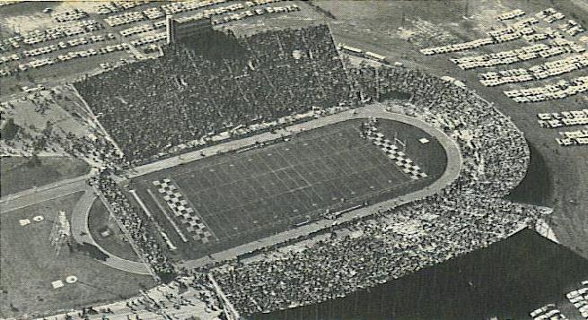 Beaver Stadium from 1960, in its permanent location