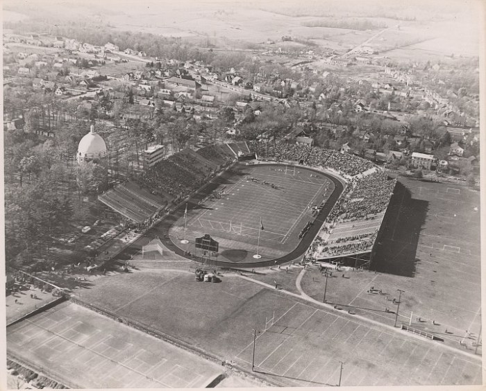 Located northeast of Rec Hall, New Beaver Field seated 30,000