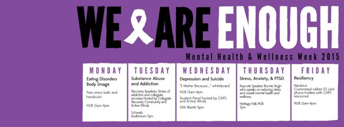 mental health and wellness week