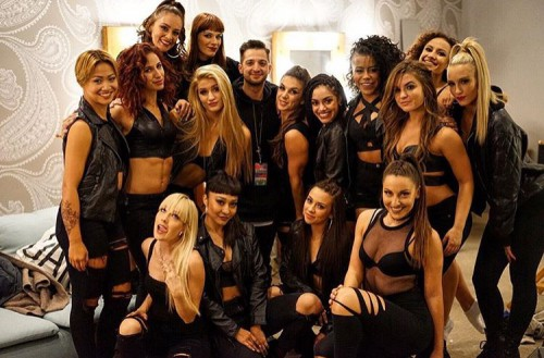 douglas with dancers