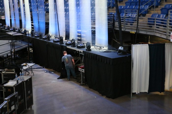Employees continue to work backstage as THON quickly approaches.