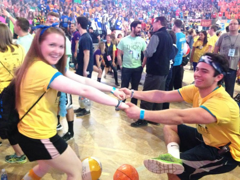 Tony Thornton and Maureen Beicher Stretch at THOn 2016