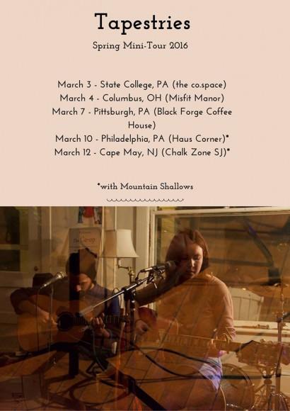 Tapestries tour list