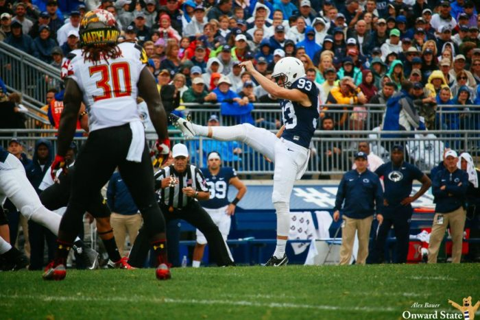 Blake Gillikin Penn State Football vs. Maryland 2016