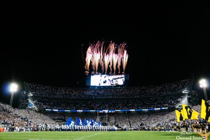 Beaver Stadium Fireworks Penn State Football vs Iowa 2016