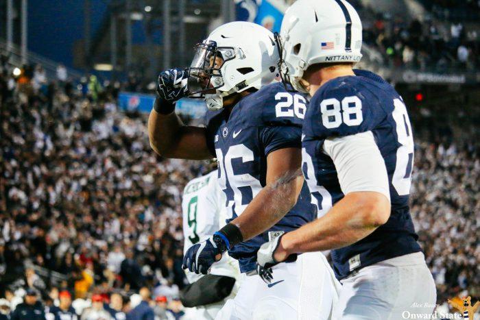 Mike Gesicki and Saquon Barkley Penn State Football vs Michigan State 2016