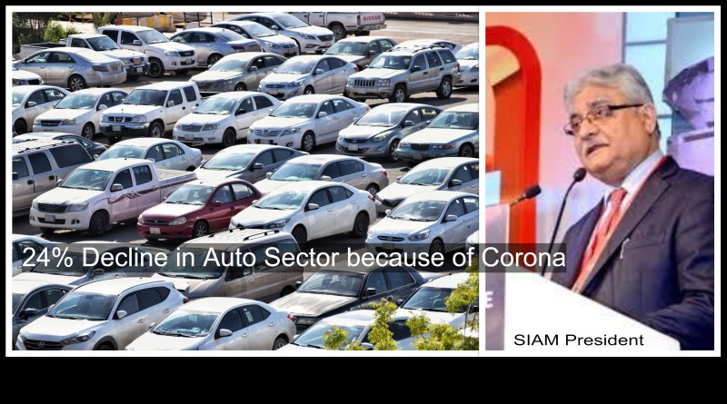 Covid-19 Auto sector Automobile Decline SIAM Cars Sales Economy India