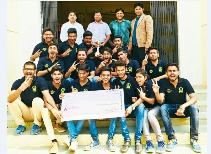 Winning team go kart racing event competition TIT group of institutes