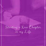 Starting a new chapter in my life after divorce