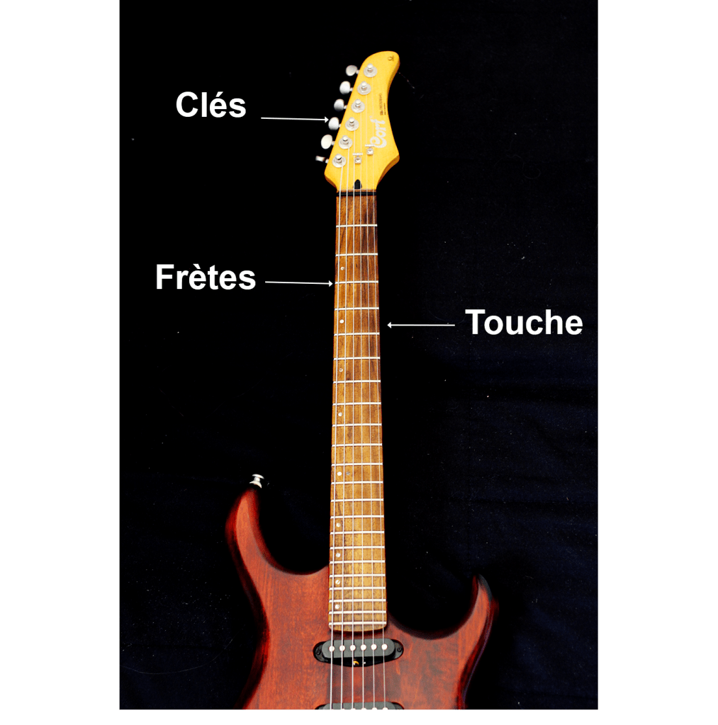 Description du manche de la guitare