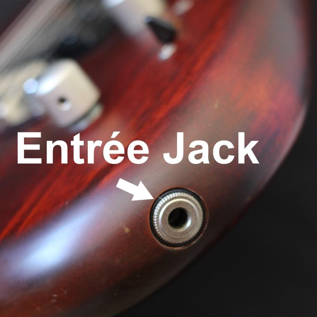 Entrée jack d'une guitare électrique