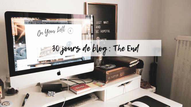 30 jours de blog