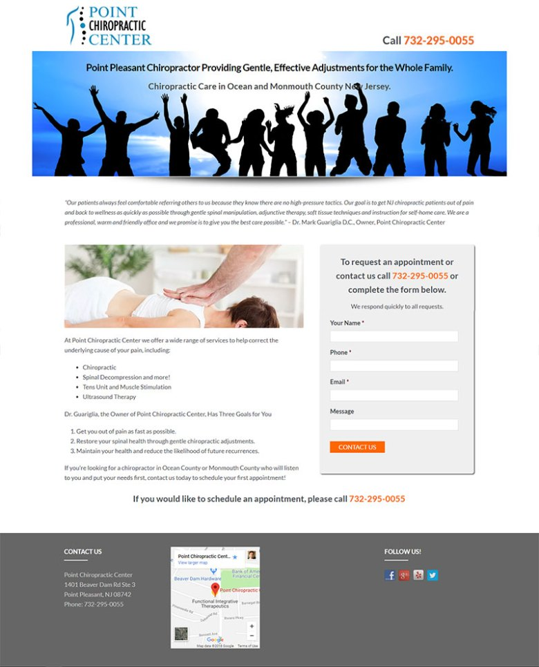 pointchiropractor com - Web Design, Search Engine Optimization and