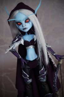 Lady Sylvanas Windrunner OOAK doll from Monster High Abbey Bominable