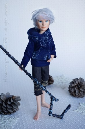 Jack Frost - Rise of the Guardians doll. Monster High repaint OOAK.