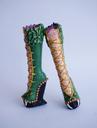 Viperine gorgon repainted boots