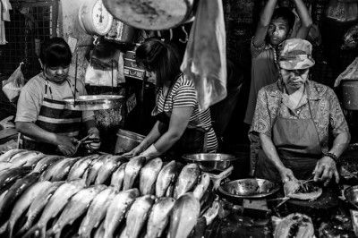 Fish stand at Baguio's Market