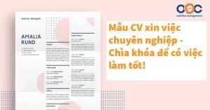 Mẫu CV xin việc chuyên nghiệp - Chìa khóa để có việc làm tốt!