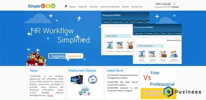 Phần mềm Simple HRM