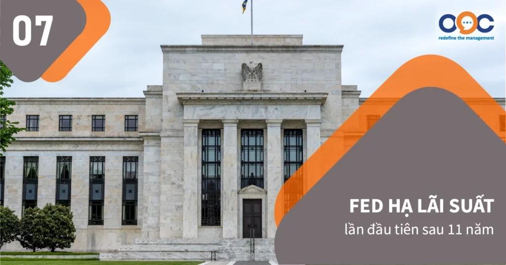 Biến động của kinh tế thế giới khiến Cục Dự trữ liên bang (Fed) hạ lãi suất liên tục, giảm xuống mức 1,5-1,75% để giúp nền kinh tế Mỹ duy trì đà ổn định