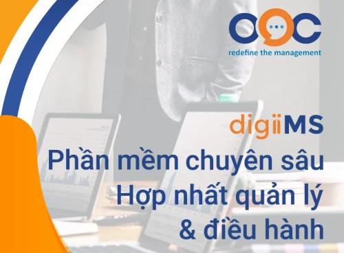 OOC digiiMS phần mềm chuyên sâu - Hợp nhất quản lý và điều hành