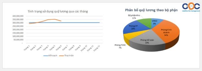 Một báo cáo trong phần mềm lương của OOC