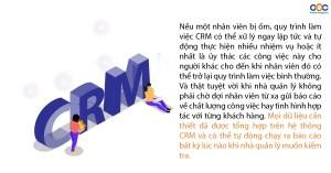 mọi dữ liệu cần thiết đã được tổng hợp trên CRM