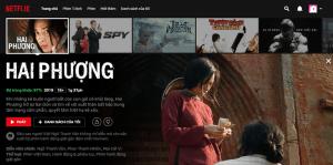 Hai Phượng - một bộ phim của Việt Nam đã xuất hiện trên nền tảng Netflix