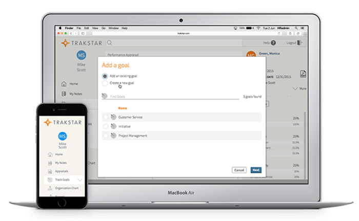 Phần mềm OKR Trackstar