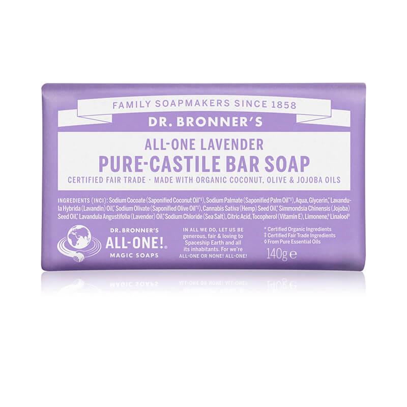 Dr. Bronners Lavender Pure-Castile Bar Soap