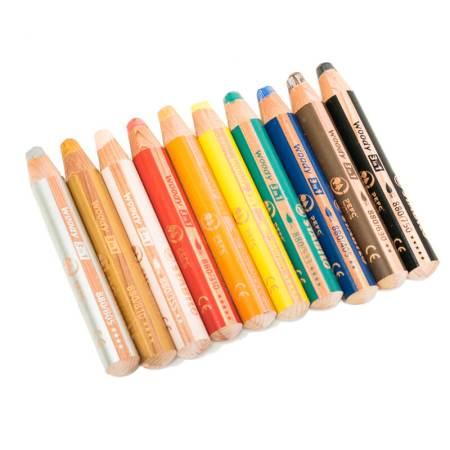 Stabilo 3-in-1 woody pencil 10 pack