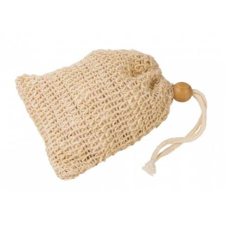 Sisal soap bag as soap saver and exfoliator
