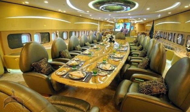 Image result for alwaleed bin talal gold plane