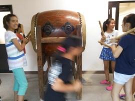 太鼓の練習中です