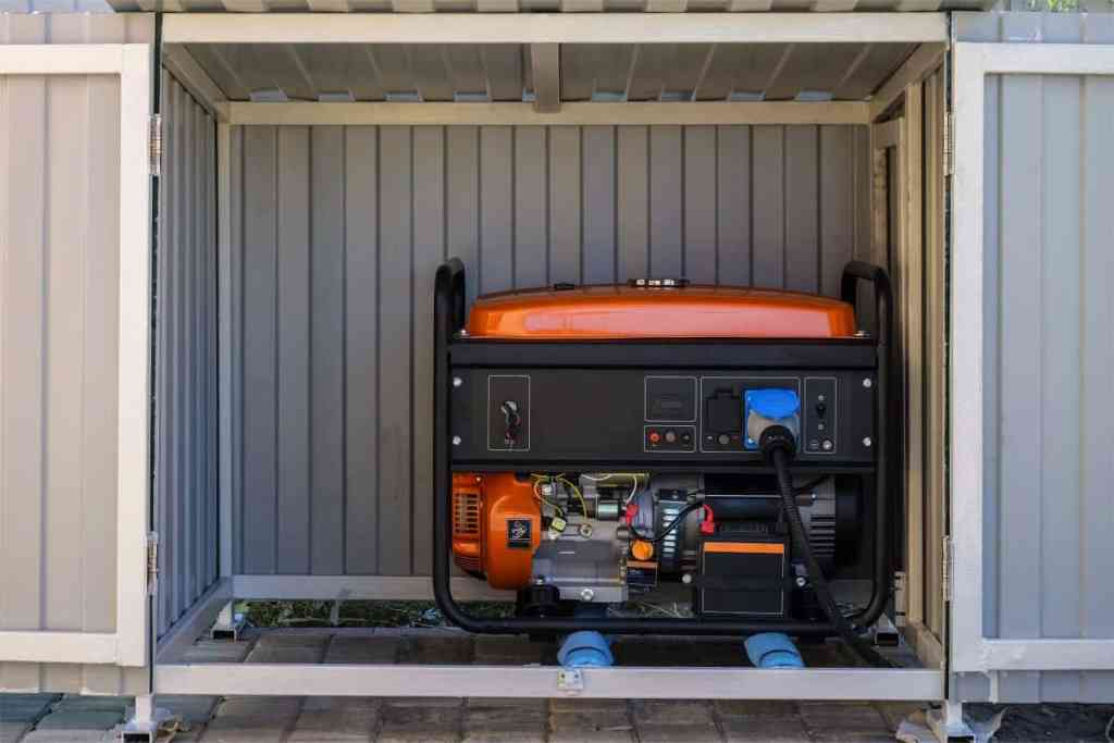 generator under a cover