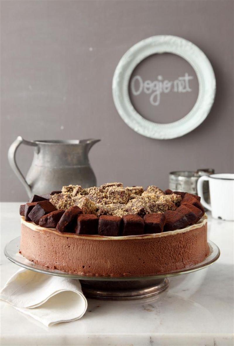 עוגת מוס שוקולד ונוגט עם טראפלס אספרסו